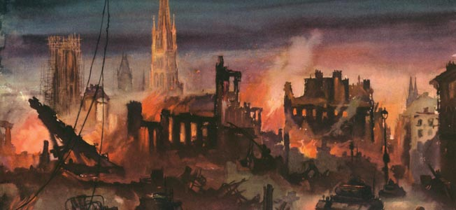 The frequent bombing of the beautiful medieval city of Rouen, France, caused widespread death and destruction and resentment to the Allies.