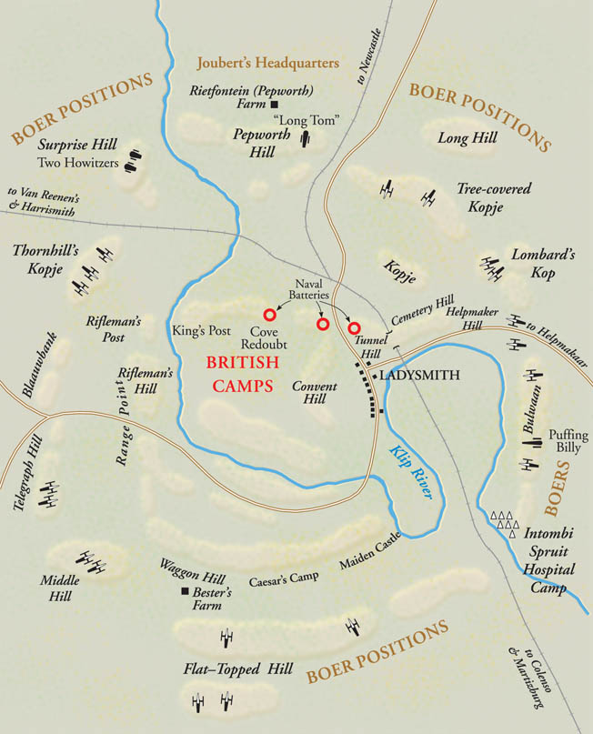 For 119 days, the British garrison at Ladysmith held out as Boer gunners hammered them from the hills beyond.
