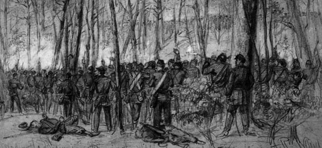 During the Battle of the Wilderness, Ulysses S. Grant's Army of the Potomac clashed hard with Robert E. Lee and his Army of Northern Virginia.