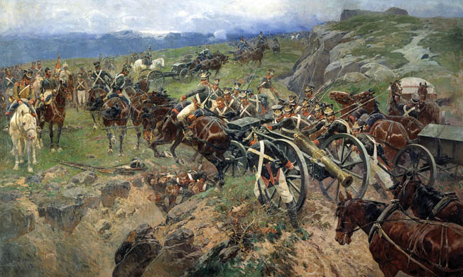 Russians under General Peter Kotlyarevski campaigning against the Persians in mountainous Azerbaijan. Like all great generals, Kotlyarevski pursued his retreating enemies in order to annihilate them.