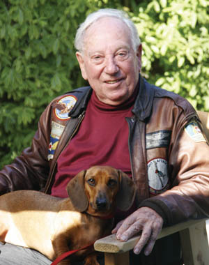 Author Jack Hildebrandt with his dachshund Otto, photographed in 2006.