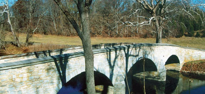 Burnside's Bridge as it appears today.