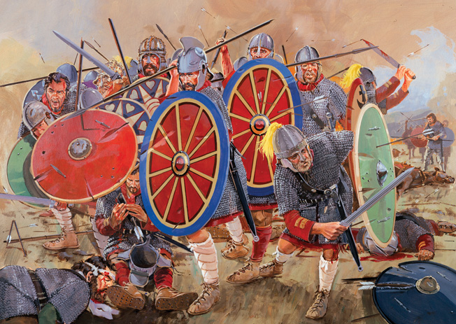 At some point in the fighting, Valens was felled by an arrow and disappeared beneath the bloody piles of corpses. Although the Goths continued their offensive, they lacked the siege equipment needed to capture Roman fortresses.