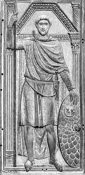 Flavius Aetius, Roman commander in the West, used his diplomatic and military skills to gain power.