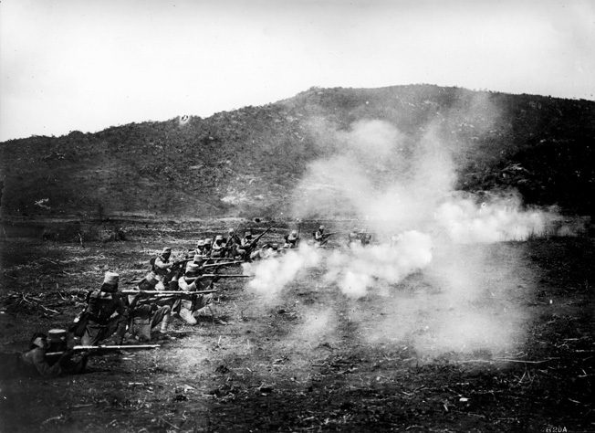 Quick-firing Askaris hold off Allied troops. The native Africans more than held their own in the war.