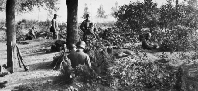 A German photograph of a German position during the battle.
