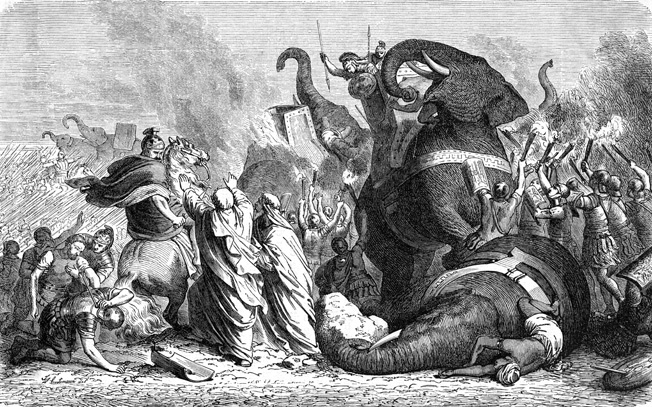 Pyrrhus's mighty elephants struck terror into the hearts of hardened Roman infantry and cavalry, often turning the tide of the battle.