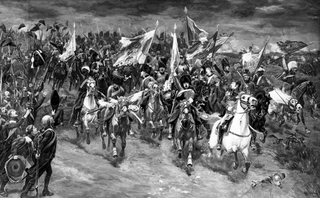 A spirited charge of Imperial Guard Cavalry at Austerlitz. It included Mamelukes, first raised in 1803.