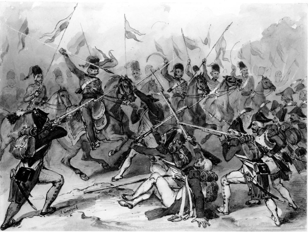 The close-quarters fighting at Austerlitz was fierce, but Napoleon's conduct of the battle gave the advantage to the French.