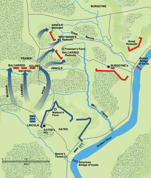 On September 19, Americans collide with flanking British columns.