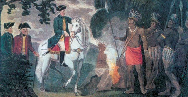 Burgoyne's efforts to stop his Indian allies from committing atrocities were in vain.