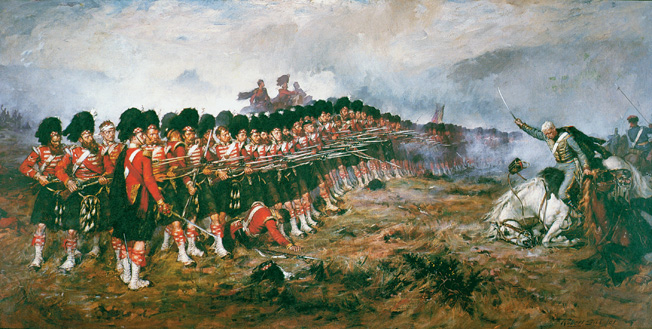 """""""There is no retreat here, men,"""" said the commander, and despite the thunderign Russian Hussars, the """"Thin Red Line: of Highlanders held and turned back the charge."""
