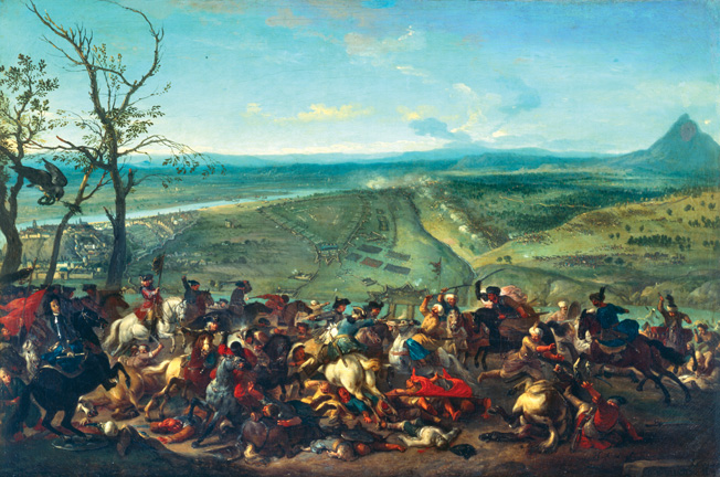 HIS384329  Credit: The conquest of Belgrade in 1717, led by Prince Eugene of Savoy, 1717-20 (oil on canvas) by or Huchtenburgh Huchtenberg, Jan van (1647-1733) Deutsches Historisches Museum, Berlin, Germany/ © DHM/ The Bridgeman Art Library Nationality / copyright status: Dutch / out of copyright