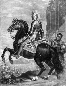 75-year-old Marshal Friedrich Schomberg captained the first English landing in Ireland.