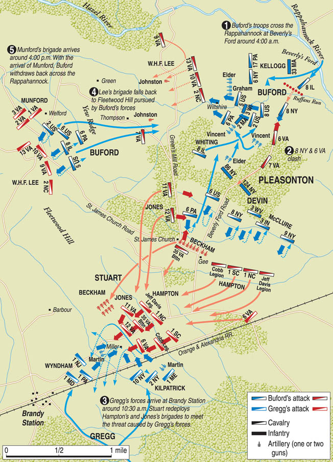 The battle of Brandy Station was the largest cavalry clash of the Civil War.