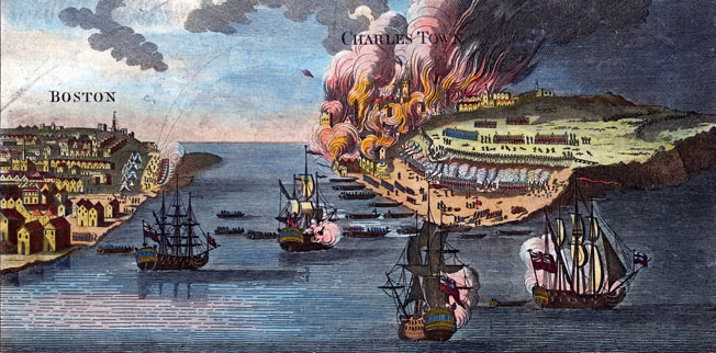British warships bombard Charlestown, setting it ablaze as British reinforcements arrive.