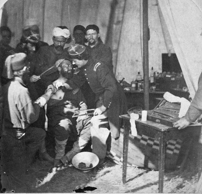 "A visit to the Civil War surgeon, often literally a ""sawbones,"" was a horror more feared than death on the battlefield."