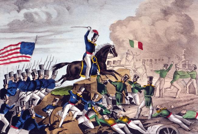 Col. William Harney's brilliant charge at Cerro Gordo broke the Mexican line.