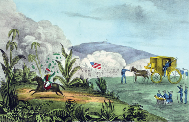 Santa Anna literally heads for the hills after the Battle of Cerro Gordo.