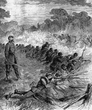 Union infantry repulses Confederate thrusts at Spring Hill, immediately preceding the Battle of Franklin. Confederate generals made multiple mistakes at the engagement, thus missing a chance to destroy at least part of Maj. Gen. John Schofield's army as it marched northward.