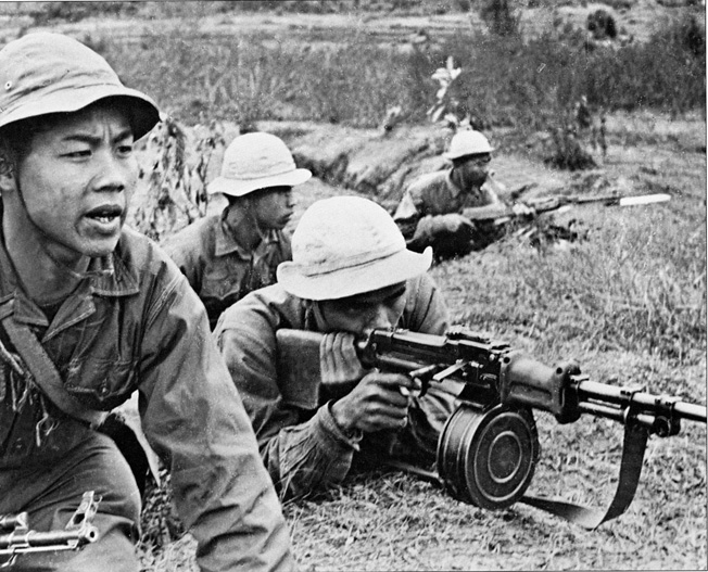 Entrenched NVA soldiers take aim on American positions near the DMZ. Many NVA lost their lives on the Ho Chi Minh trail south before ever setting on foot in South Vietnam.