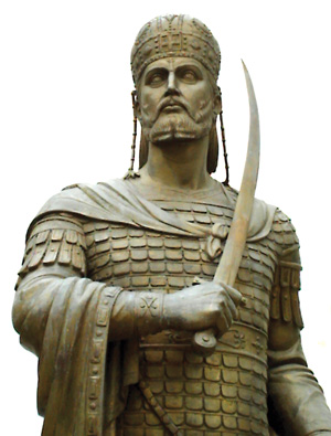 Byzantine Emperor Constantine XI Palaeologus led the defense of the city and fought alongside its defenders.
