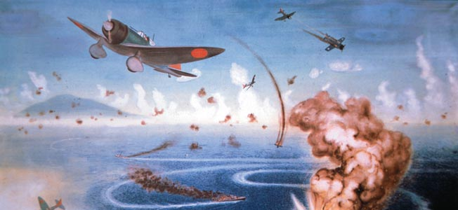 As a Japanese invasion force attacked Port Moresby, New Guinea, a skeleton crew of two American aircraft carriers moved to confront the invaders.