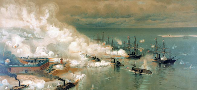 Admiral David Farragut took the Confederate minefields, forts and ironclads at the Battle of Mobile Bay in the Gulf of Mexico.