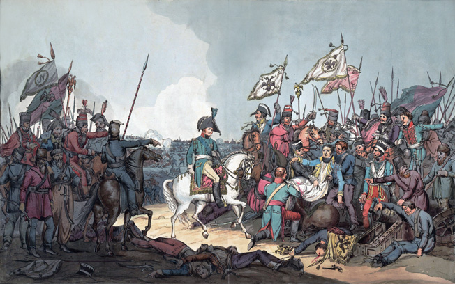 On the second day of the battle, exiled French General Jean Moreau was fatally struck by a cannonball that narrowly missed Russian czar Alexander.