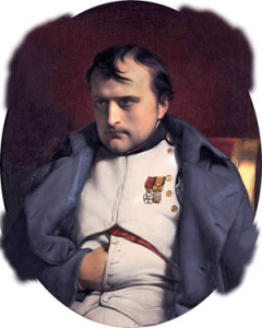 Napoleon at Fontainebleau, March 31, 1814.