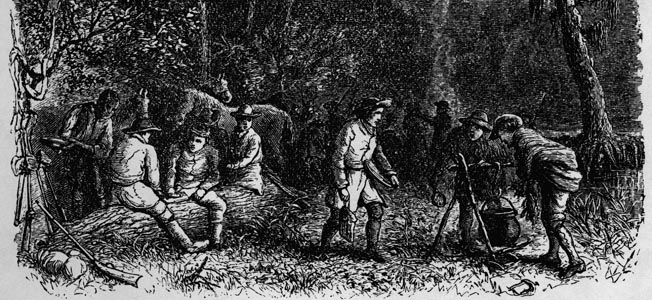 General Nathanael Greene's Continental Army moved to the attack at Eutaw Springs on the Santee River in South Carolina.