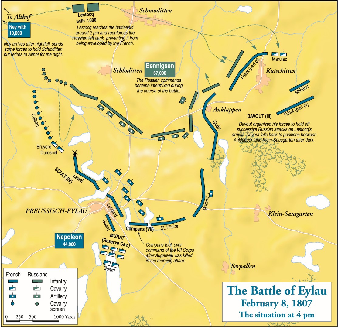 Napoleon Vs Russia Battle Of Eylau