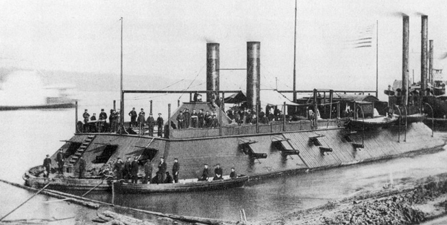 The Carondelet was one of James Eads's hastily but soundly constructed gunboats. She bombarded both forts and eventually became the most celebrated boat in the West.