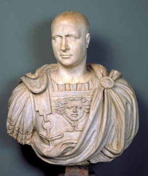 Marble bust of Scipio Africans.