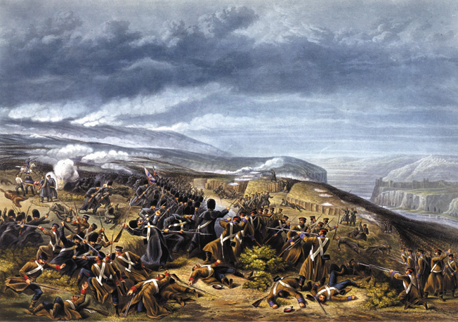 Although the British Guards fighting around the much-disputed Sandbag Battery managed to drive off their Russian opponent, they still suffered nearly 50 percent casualties in the process.