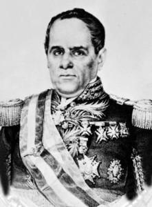 Mexican president Antonio de Santa Anna.