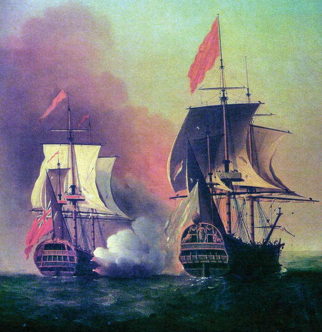 In June 1743, English Commodore George Anson intercepted the Spanish treasure ship Nuestra Señora de Covadonga, bound from Manila with riches valued at more than 800,000 English pounds.