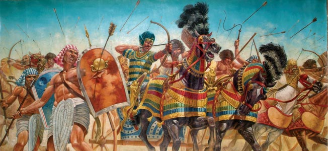 The Egyptians and Hittites fought a great chariot battle at Kadesh in 1274 BC. At stake was control of the near east.