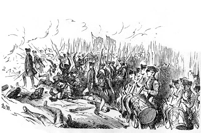 At Kolin, Daun's well-handled Austrian troops beat back repeated Prussian attempts to outflank them. An assault on the Austrian center, led by Prince Moritz Furst Anhalt-Dessau, also failed.