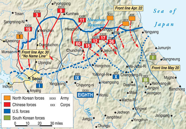 The massive Chinese offensive in 1951 aimed to destroy the U.S. Eight Army and drive it from the Korean Peninsula.