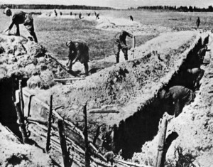Soviet soldiers labored to dig 6,000 miles of defensive trenches prior to the commencement of Operation Citadel. More than 300,000 Russian civilians contributed to the effort.