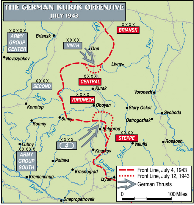 The German Kursk Offensive, July 1943
