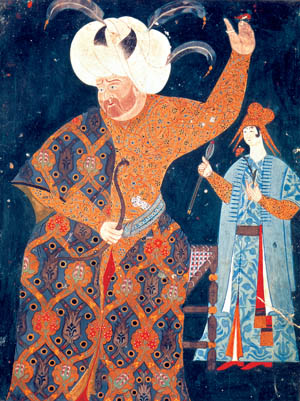 A contemporary portrait of Sultan Selim II. He was thought by his advisors a profligate who needed a great military victory.
