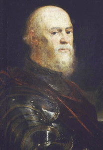 Doge Sebastiano Veniero Commanded the Venetian contingent of the Christian Fleet. He was 75 years old at the time.