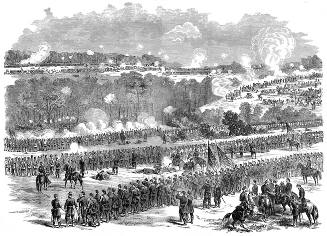 Brig. Gen. Fitz John Porter packed the top of Malvern Hill with troops to prevent a Confederate breakthrough.