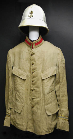 French colonial troops adopted the M1892 pattern jacket for tropical wear.