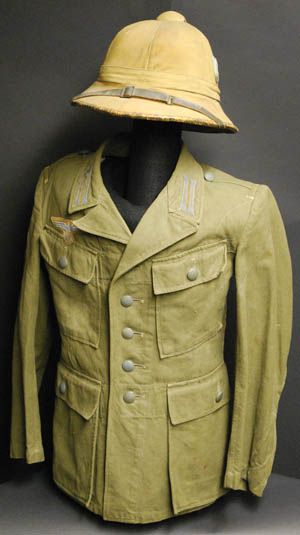 The German Afrika Korps wore a variety of tan colors. This M41 pattern was worn in North Africa and southern Europe.