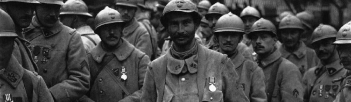 Militaria: WWI Helmets from French Troops