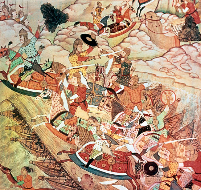 After cementing his rule over Mongolia, Genghis Khan led his Mongol hordes south to invade China.