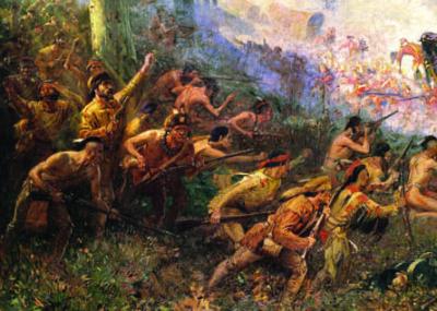 Braddock's Defeat in the Wilderness